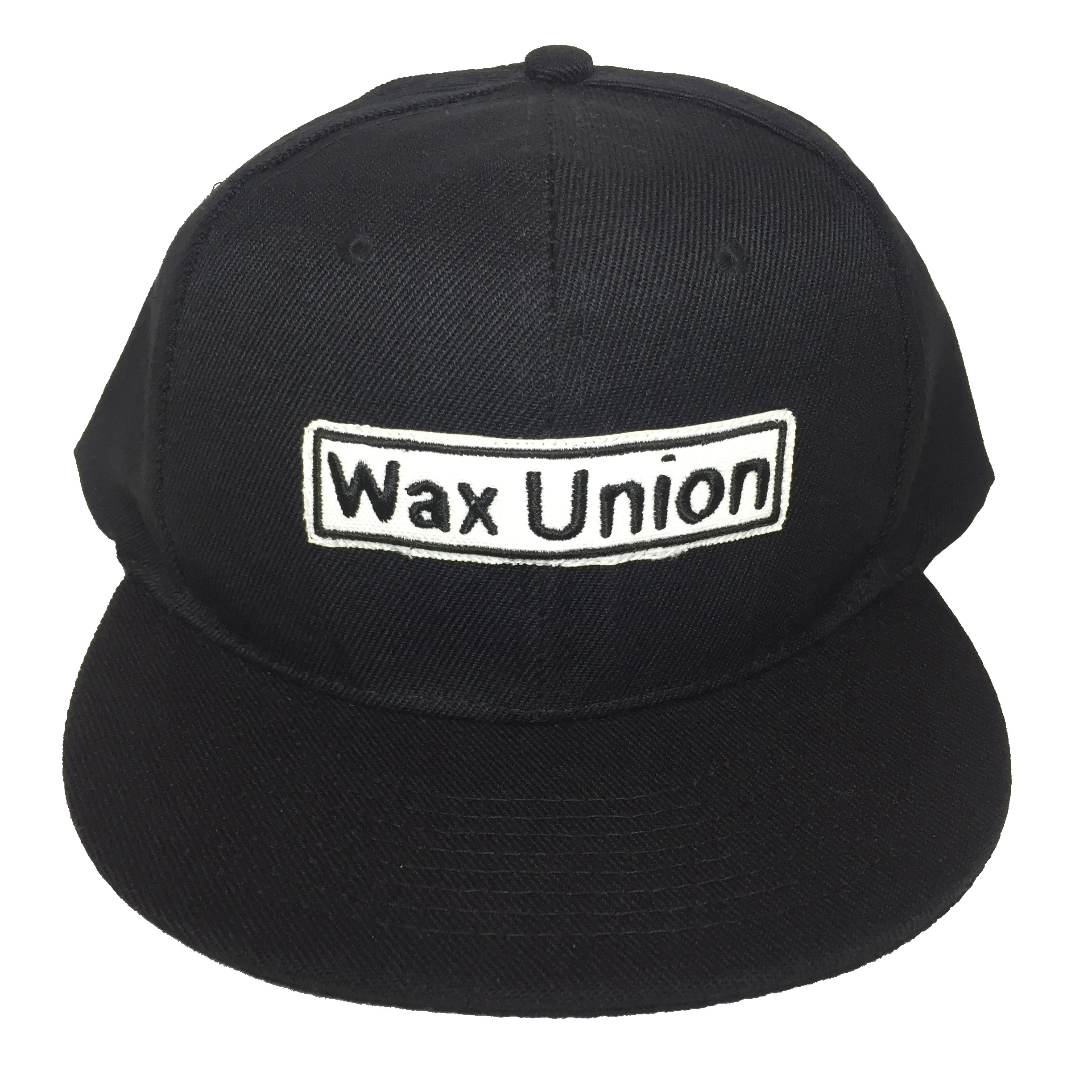 Wax Union Text Patch 6 panel Cap Front View